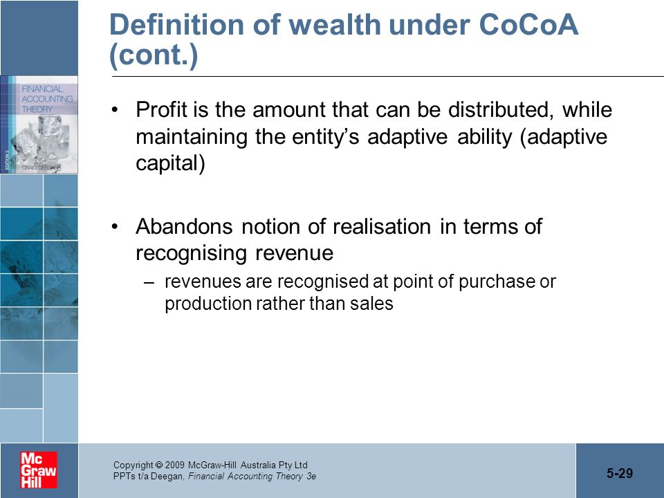 Definition of wealth under CoCoA (cont.)