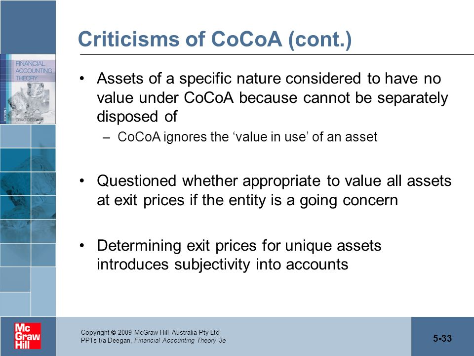 Criticisms of CoCoA (cont.)