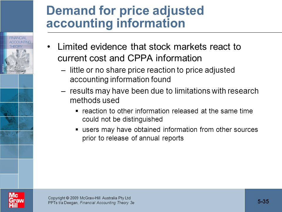 Demand for price adjusted accounting information