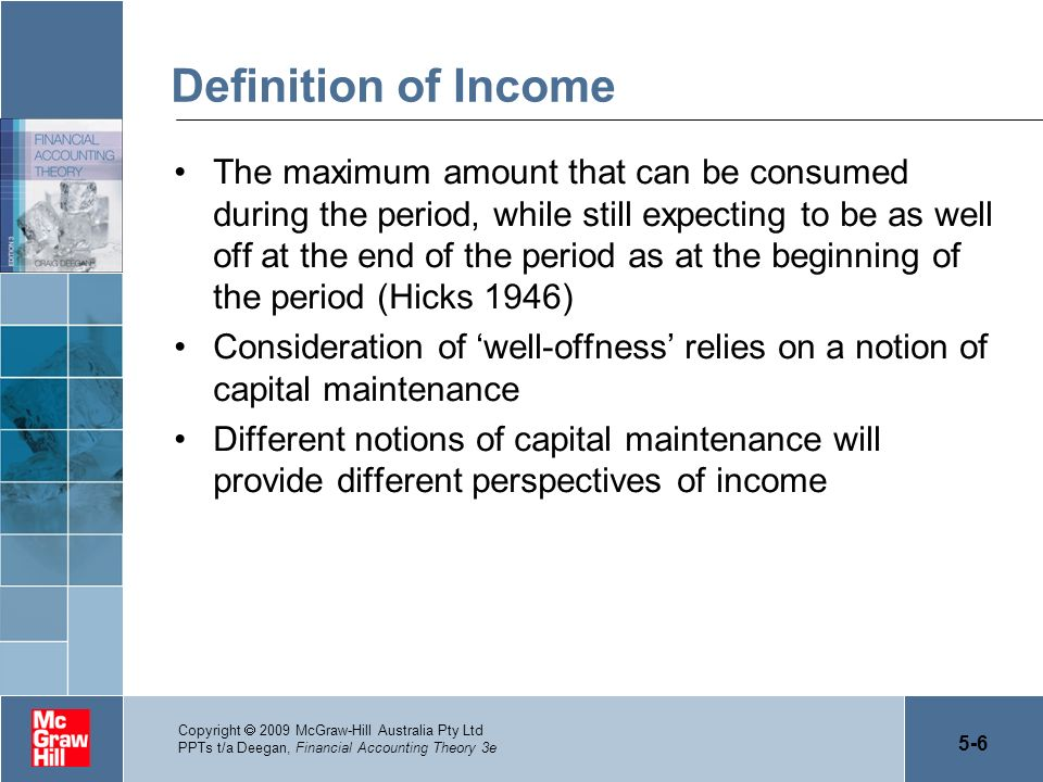 Definition of Income