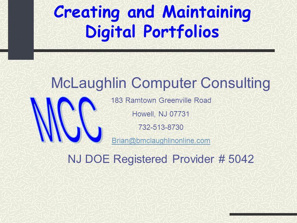 Creating and Maintaining Digital Portfolios