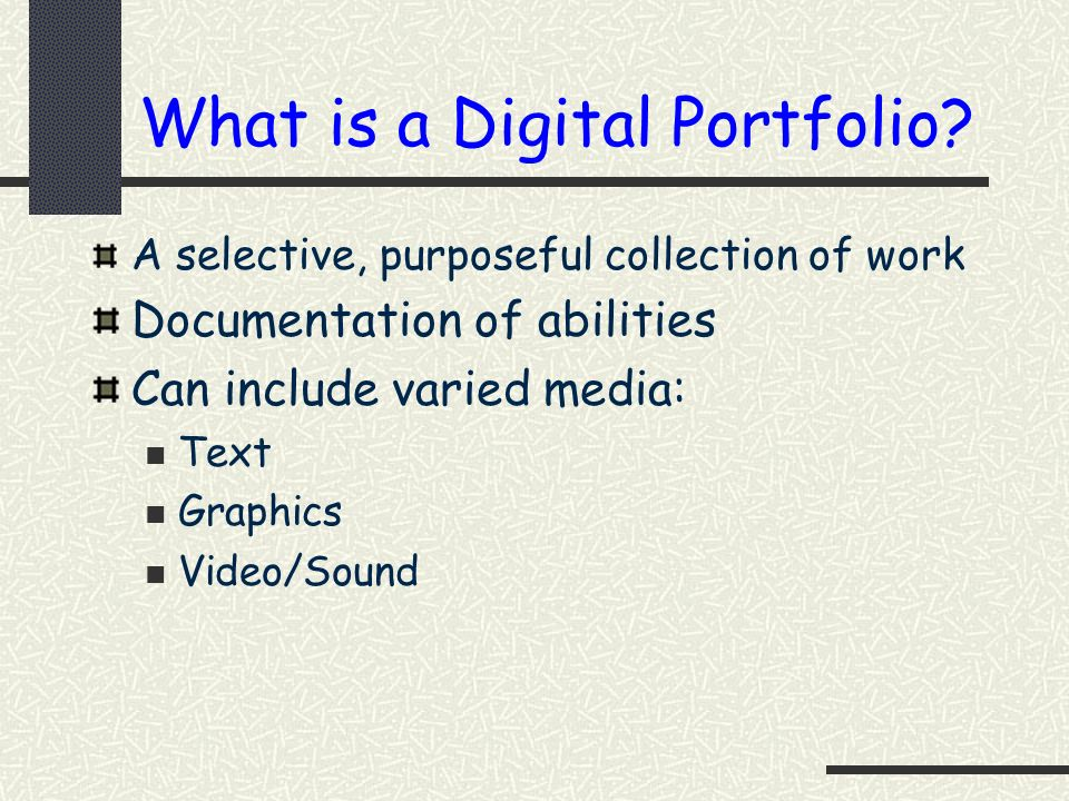 What is a Digital Portfolio