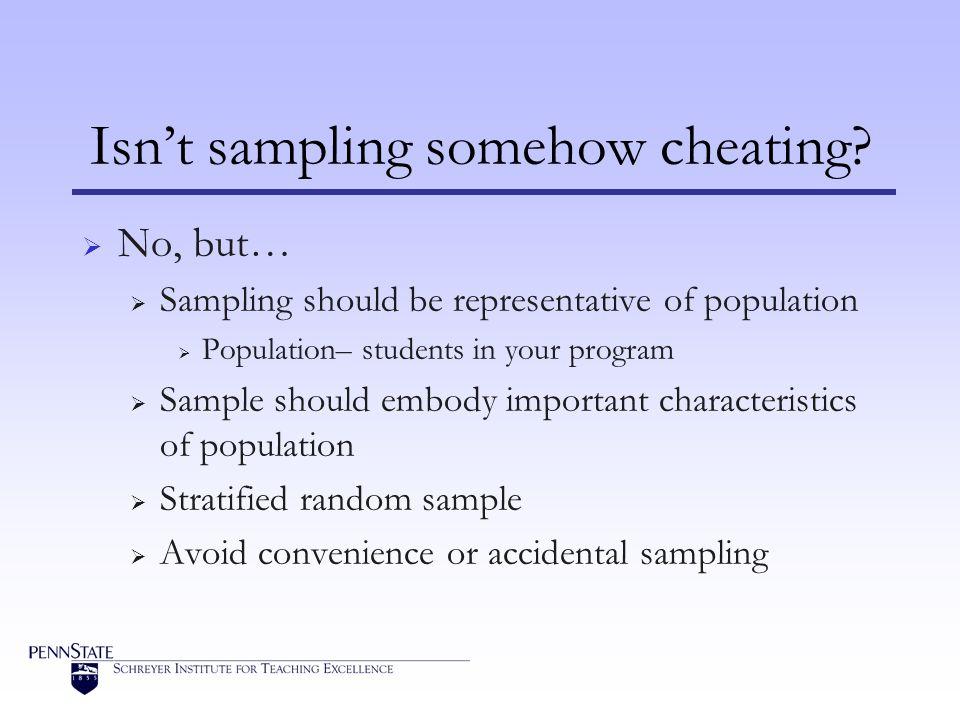 Isn't sampling somehow cheating