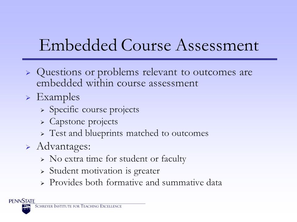 Embedded Course Assessment