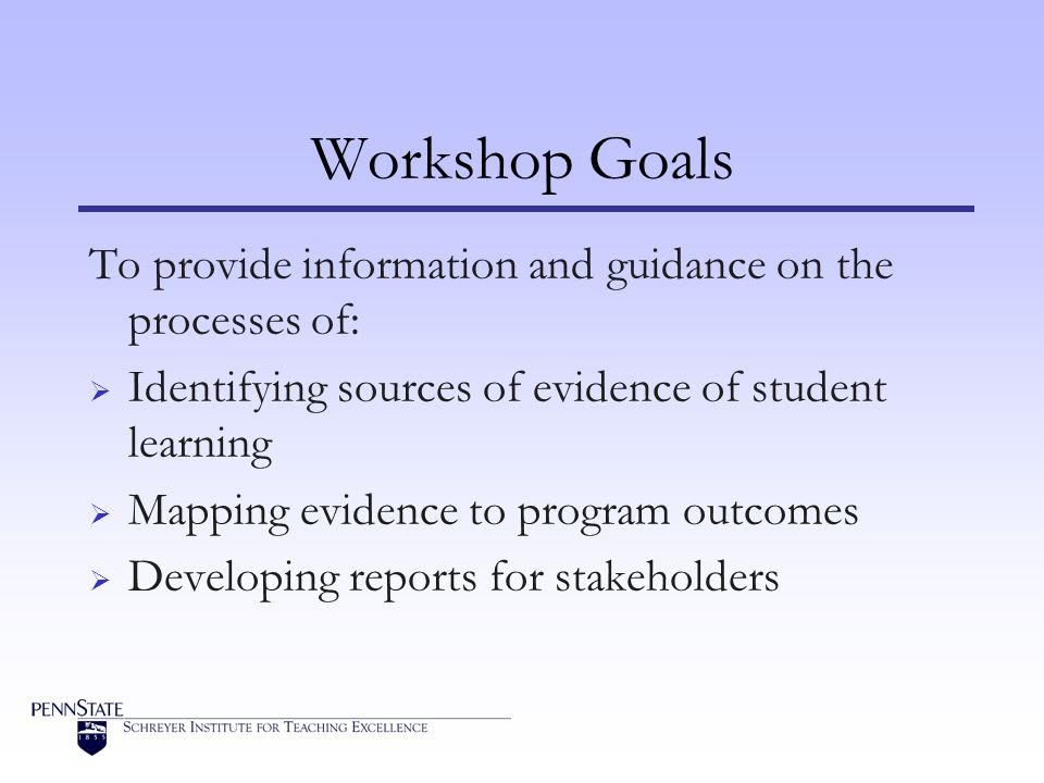 CCUA Assessment Workshop