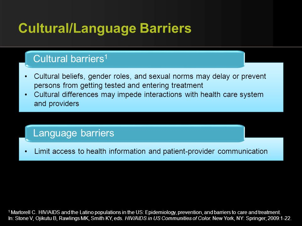 Cultural/Language Barriers
