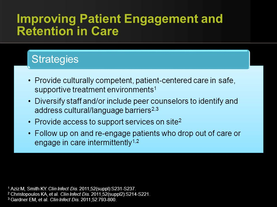 Improving Patient Engagement and Retention in Care