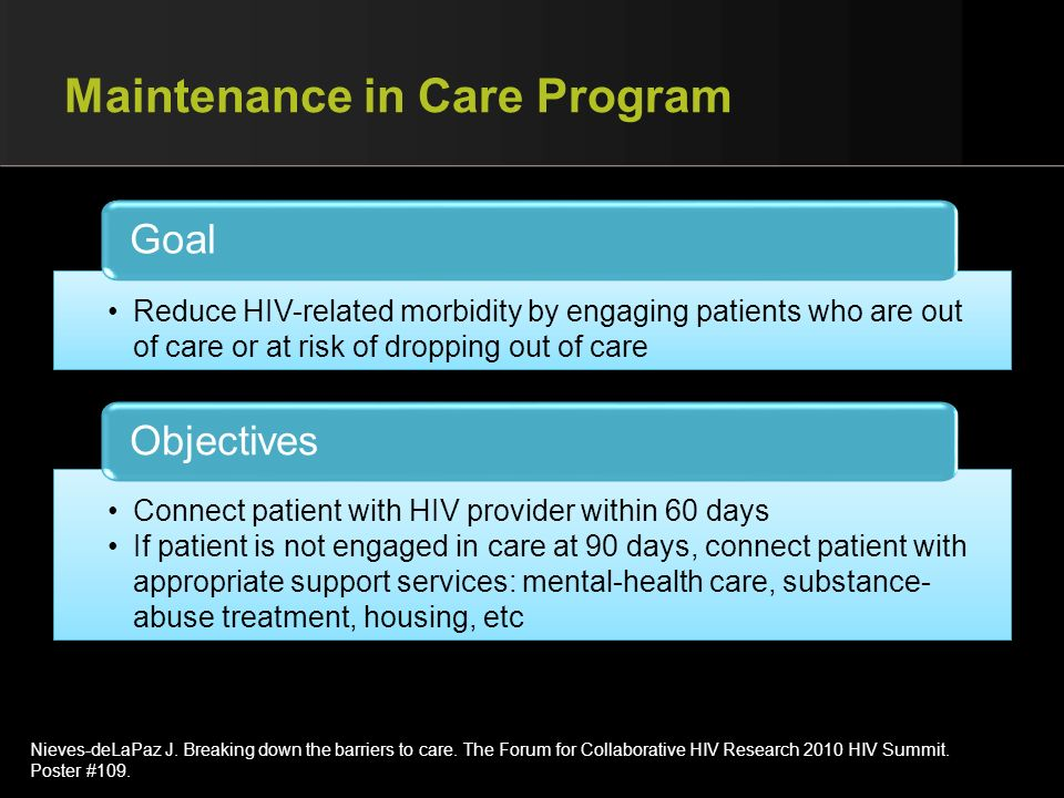 Maintenance in Care Program
