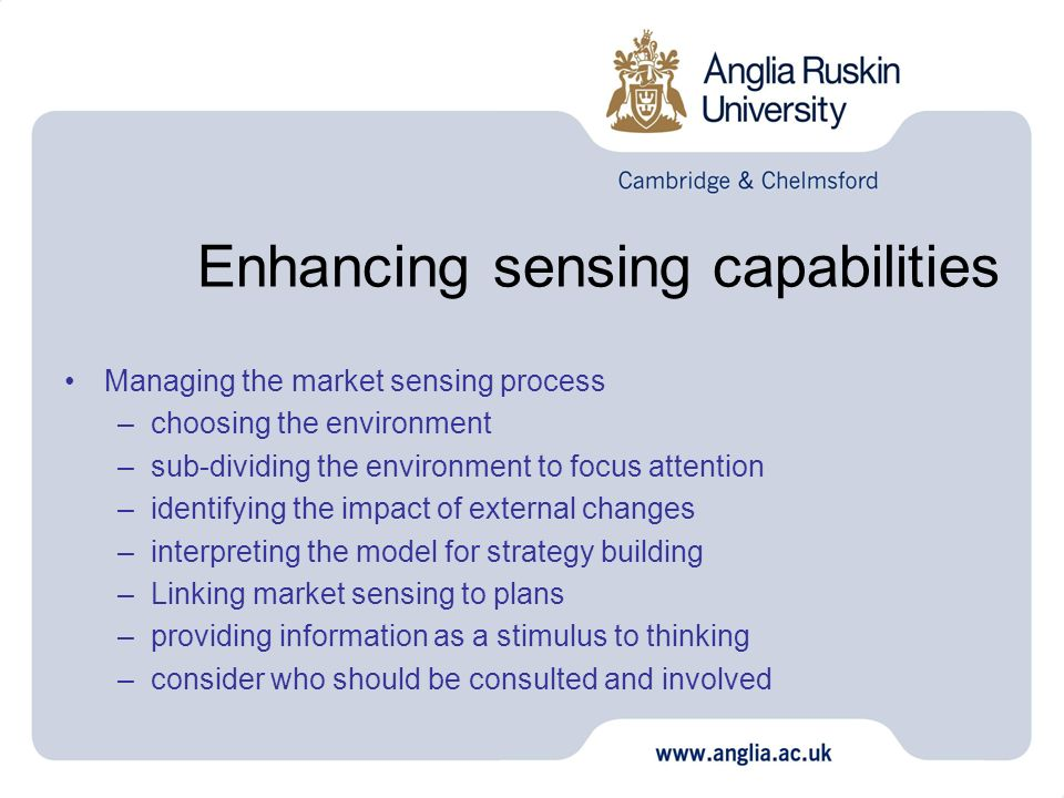Enhancing sensing capabilities