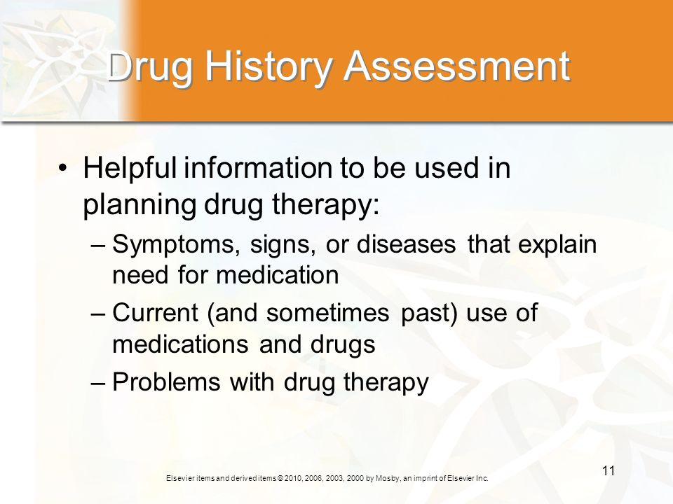 Drug History Assessment