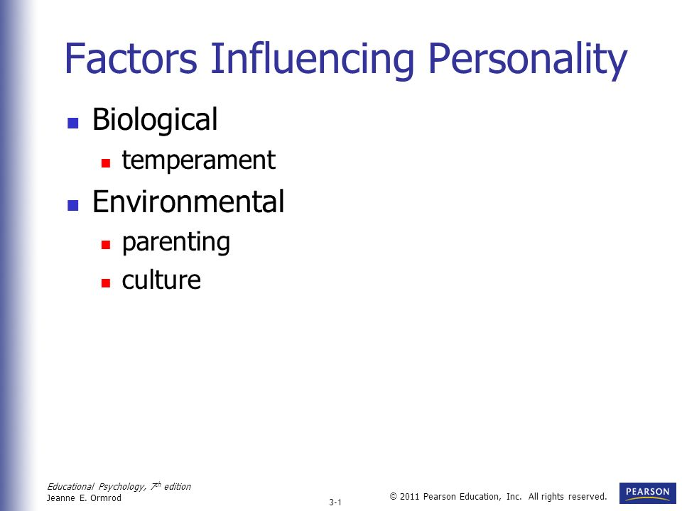 Factors Influencing Personality