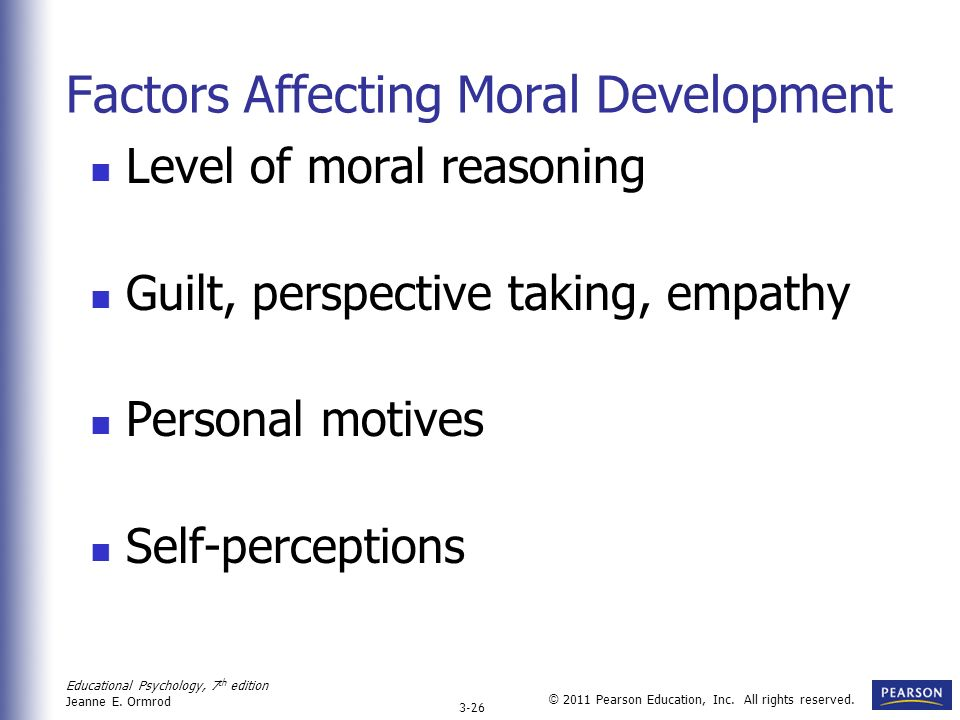 factors influencing moral development essay The following are the most important factors that influence moral development family, which takes four influence forms the family's behaviour acts as a model for.