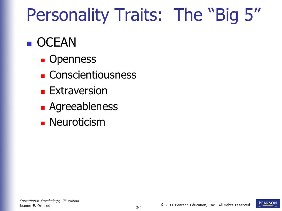 Personality Traits: The Big 5