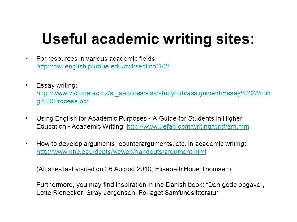 Useful academic writing sites: