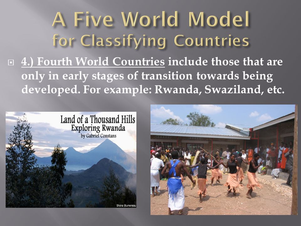 A Five World Model for Classifying Countries