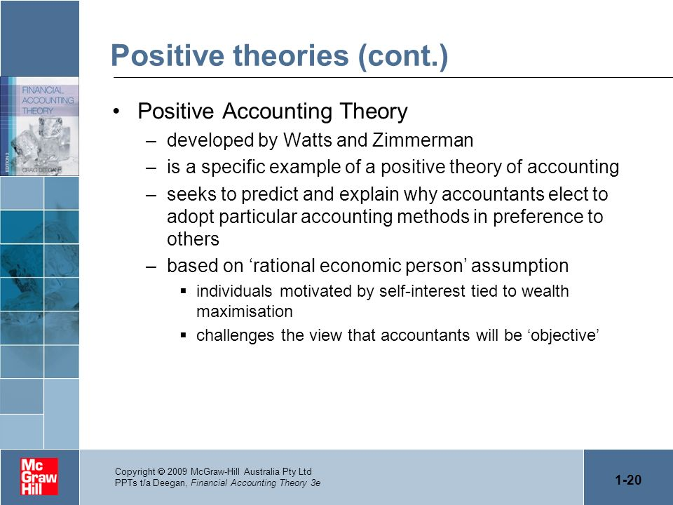 Positive theories (cont.)