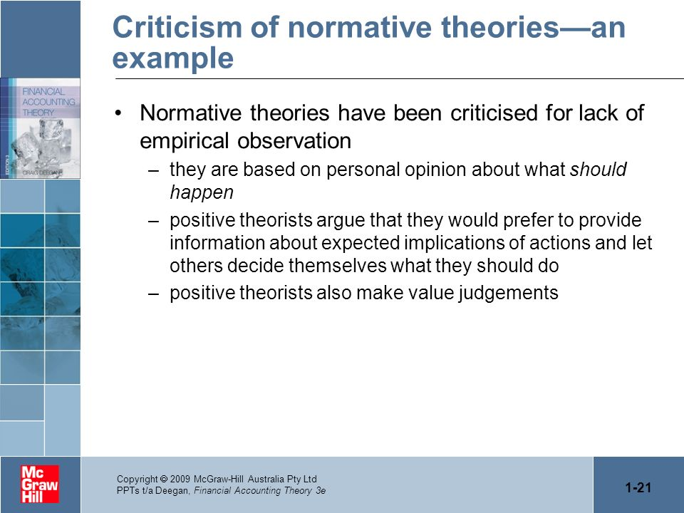Criticism of normative theories—an example