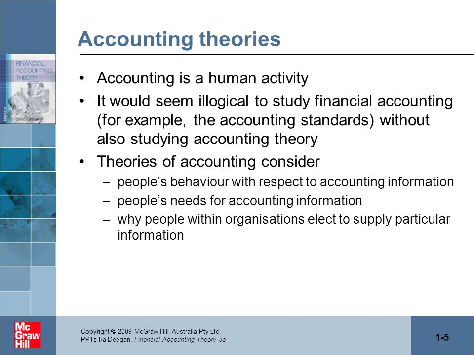 Accounting theories Accounting is a human activity