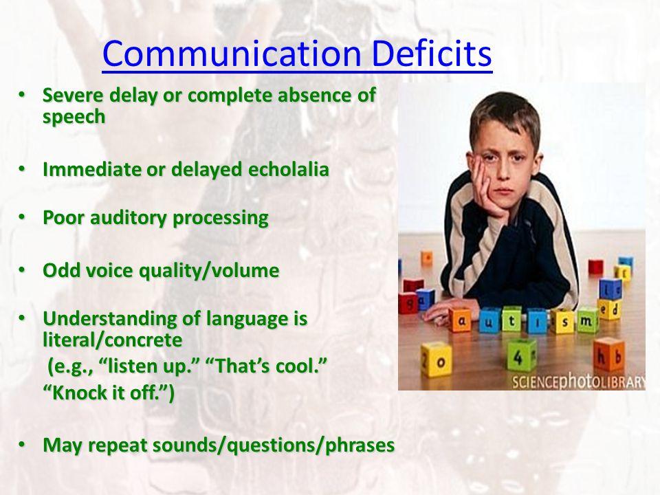 Communication Deficits