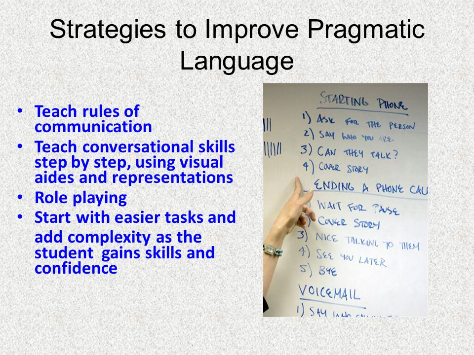 Strategies to Improve Pragmatic Language