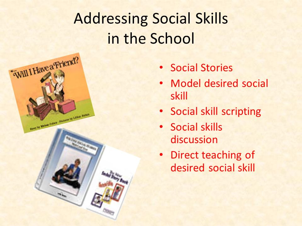 Addressing Social Skills in the School