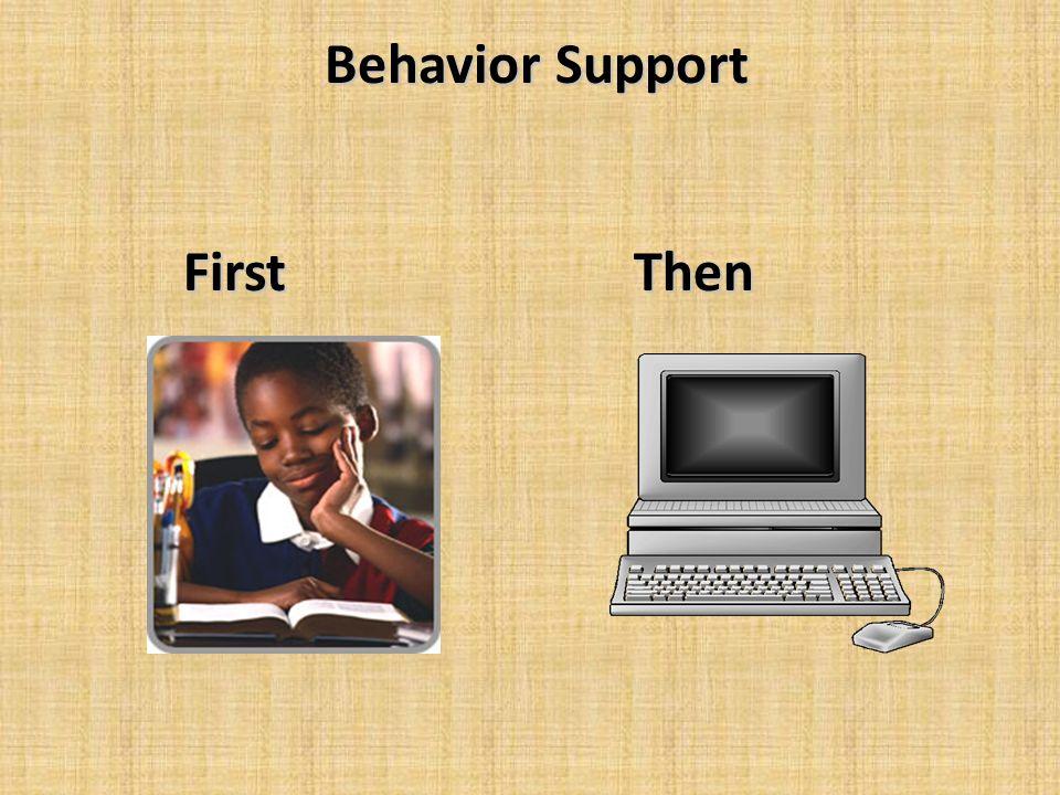 Behavior Support First Then