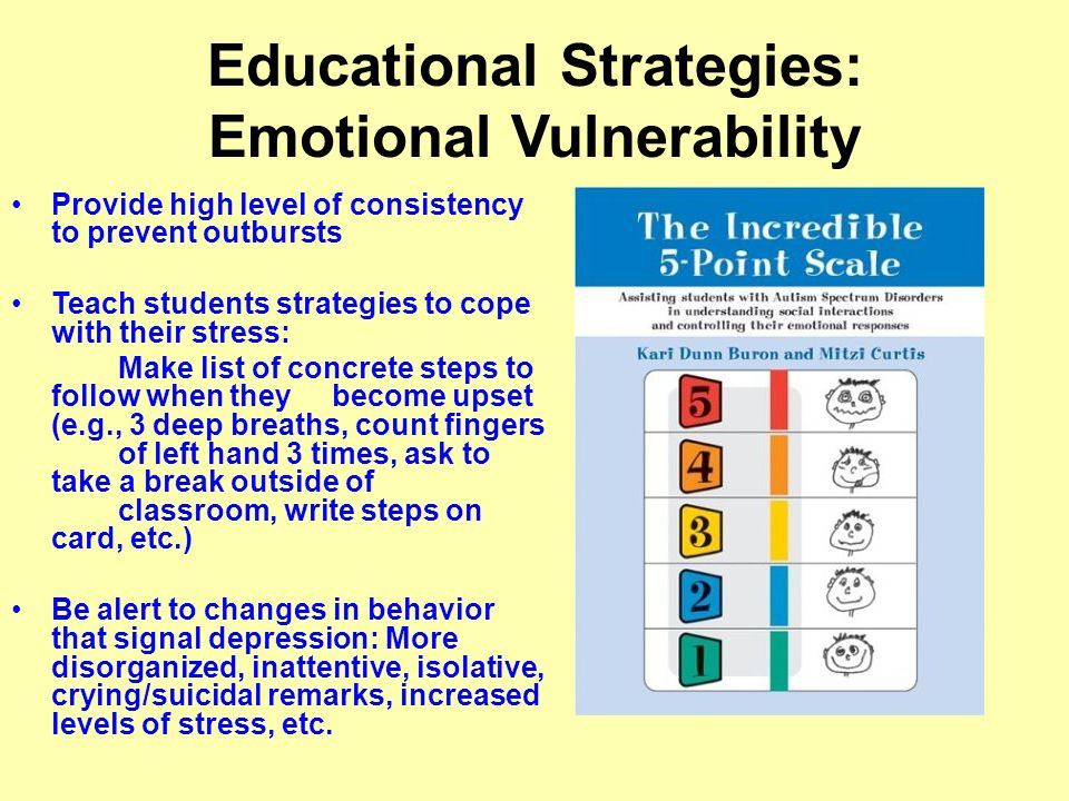 Educational Strategies: Emotional Vulnerability