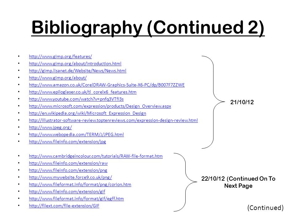 Bibliography (Continued 2)