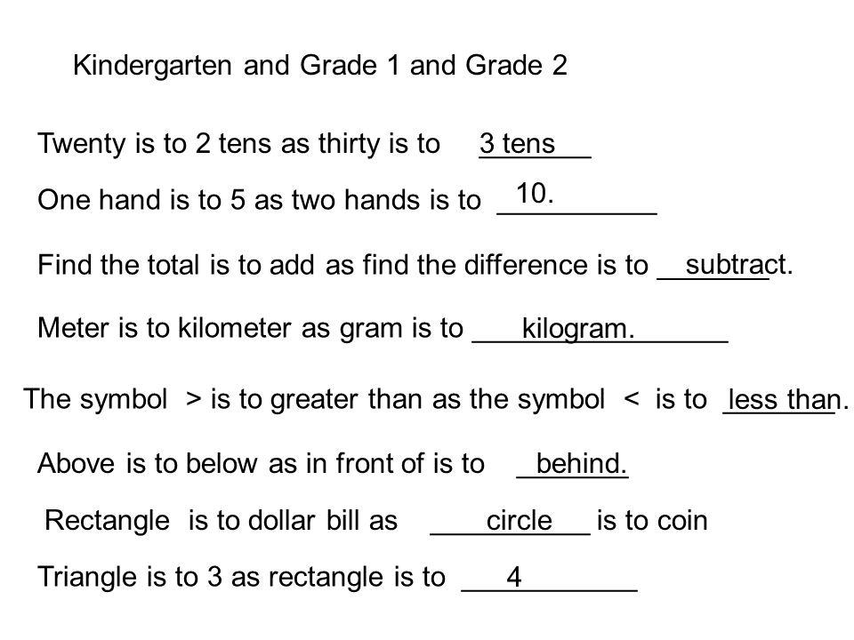 Kindergarten and Grade 1 and Grade 2
