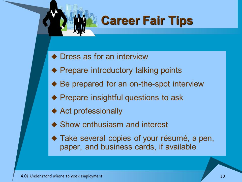Career Fair Tips Dress as for an interview