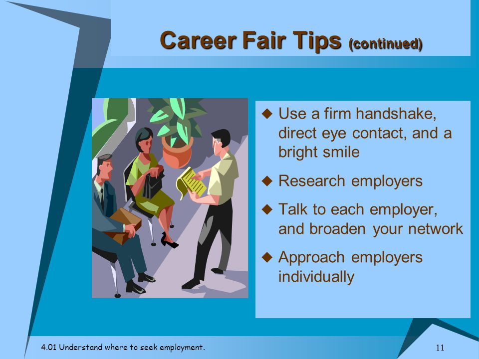 Career Fair Tips (continued)