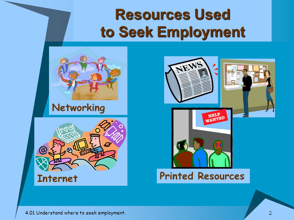 Resources Used to Seek Employment