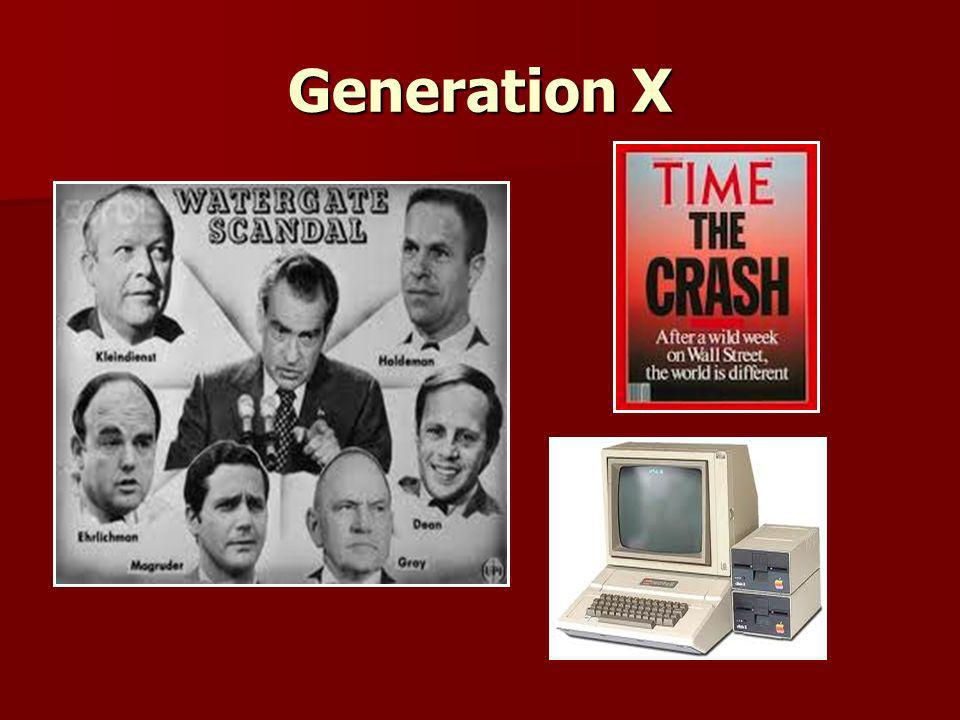 Generation X Pictures of what defines the Generation x 1965-1980