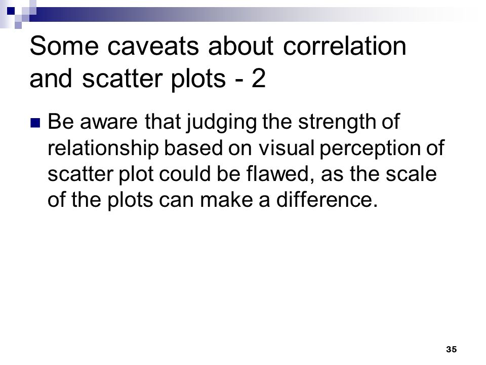 Some caveats about correlation and scatter plots - 2