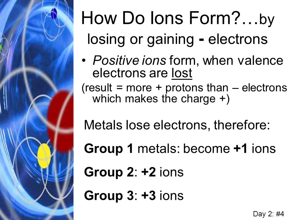 How Do Ions Form …by losing or gaining - electrons