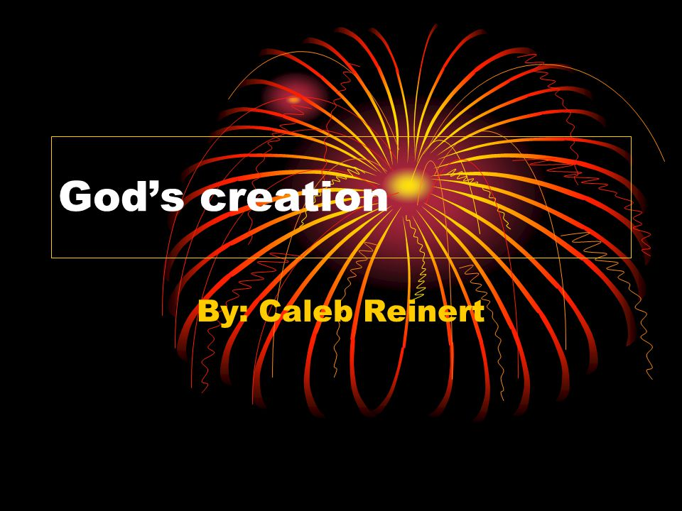 God's creation By: Caleb Reinert
