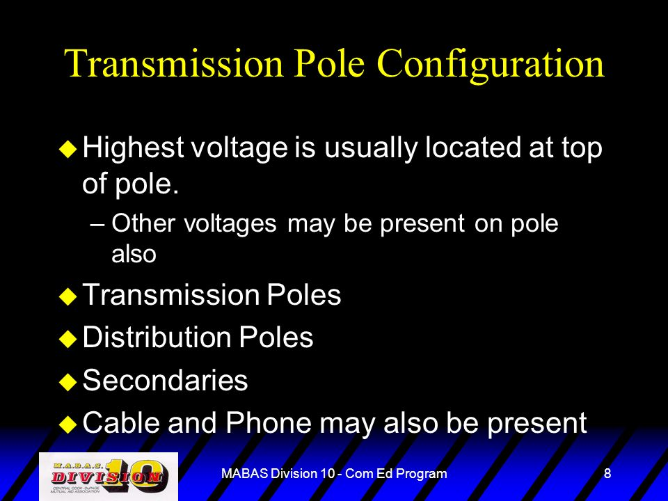 Transmission Pole Configuration