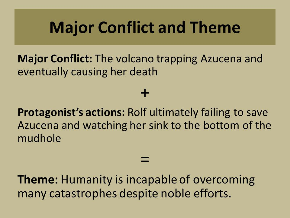 Major Conflict and Theme