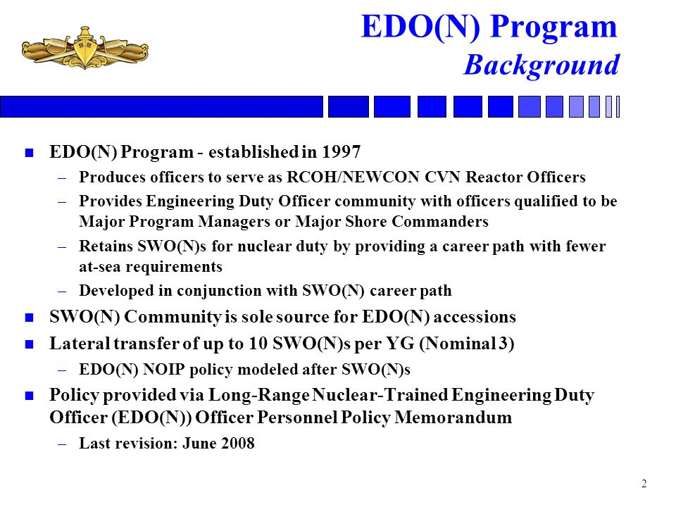 EDO(N) Program Background