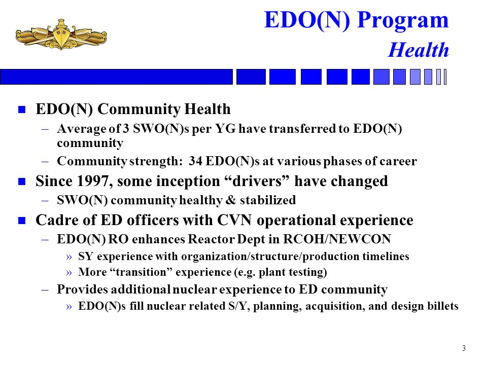 EDO(N) Program Health EDO(N) Community Health