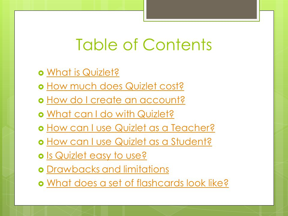 Table of Contents What is Quizlet How much does Quizlet cost
