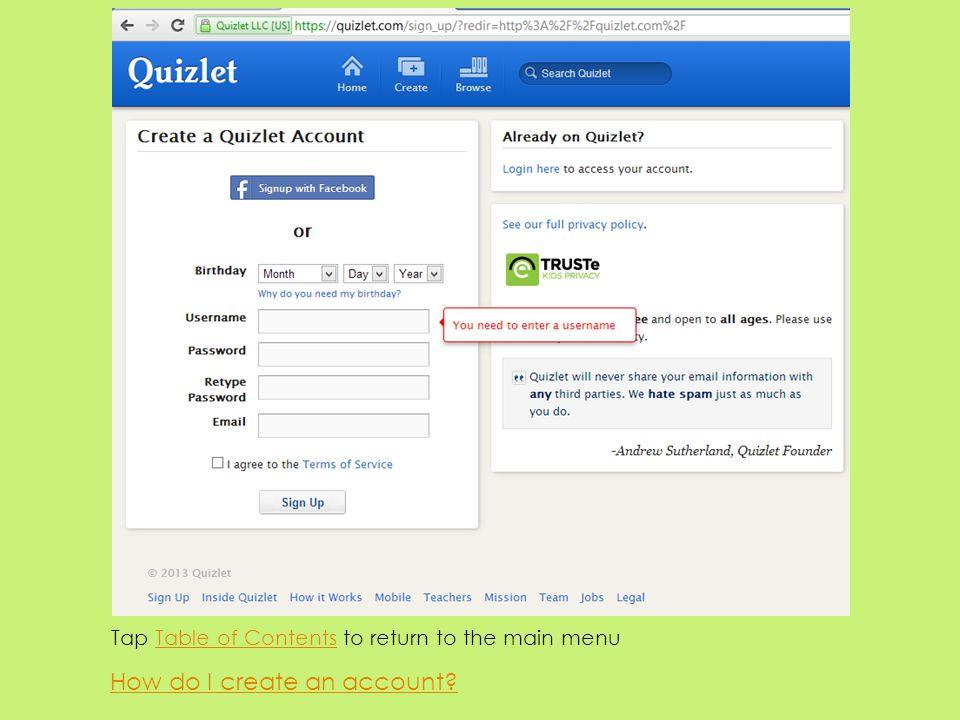 How do I create an account