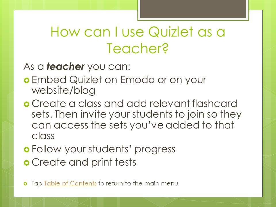How can I use Quizlet as a Teacher