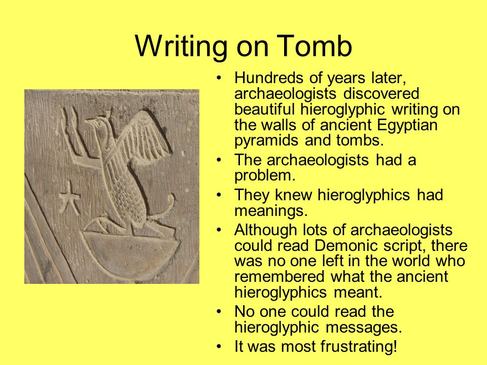 Writing on Tomb