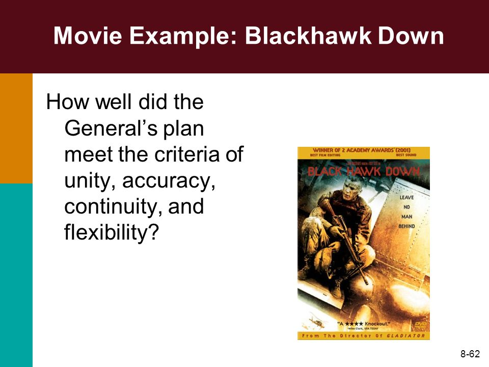 Movie Example: Blackhawk Down