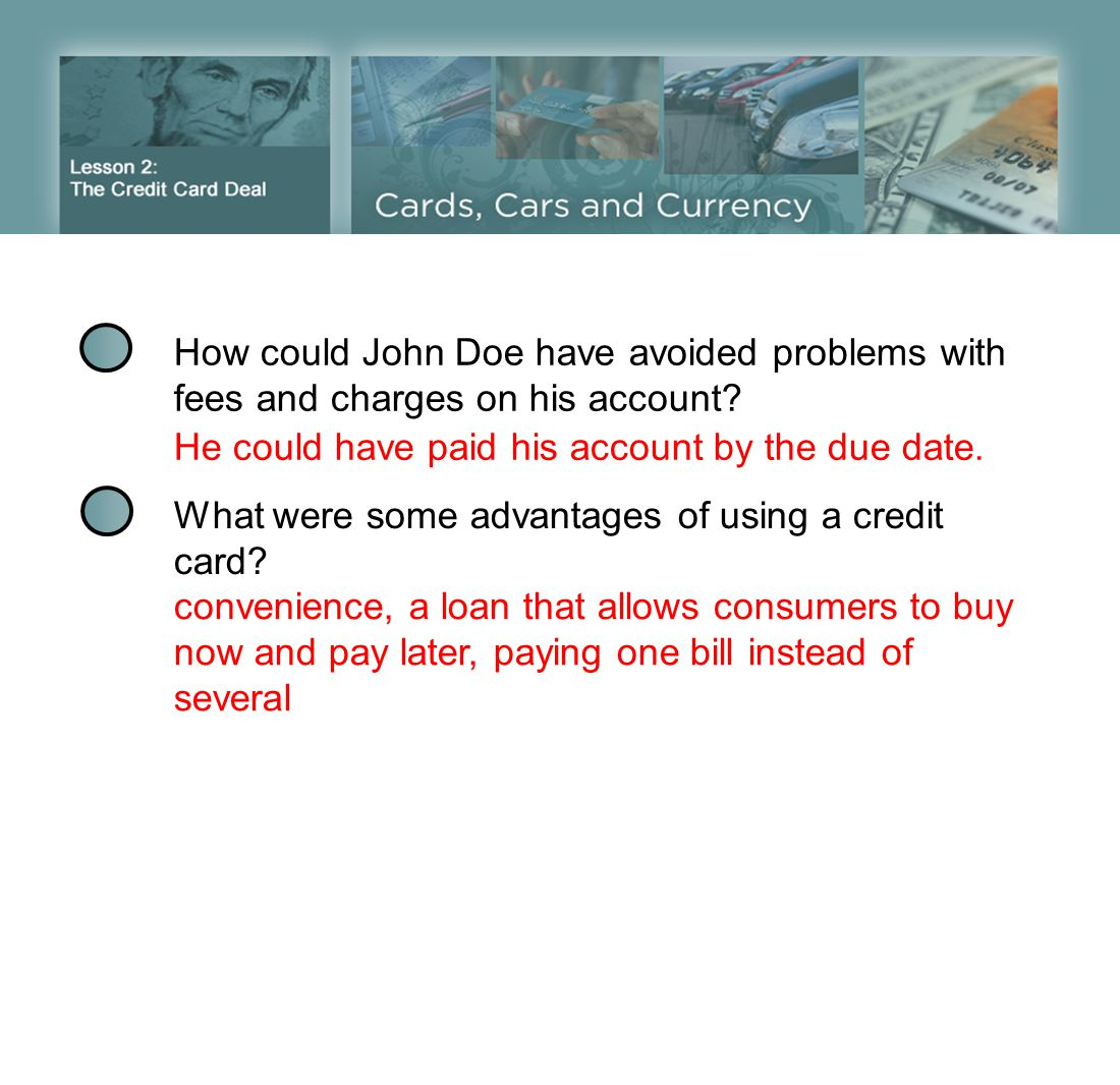 How could John Doe have avoided problems with fees and charges on his account