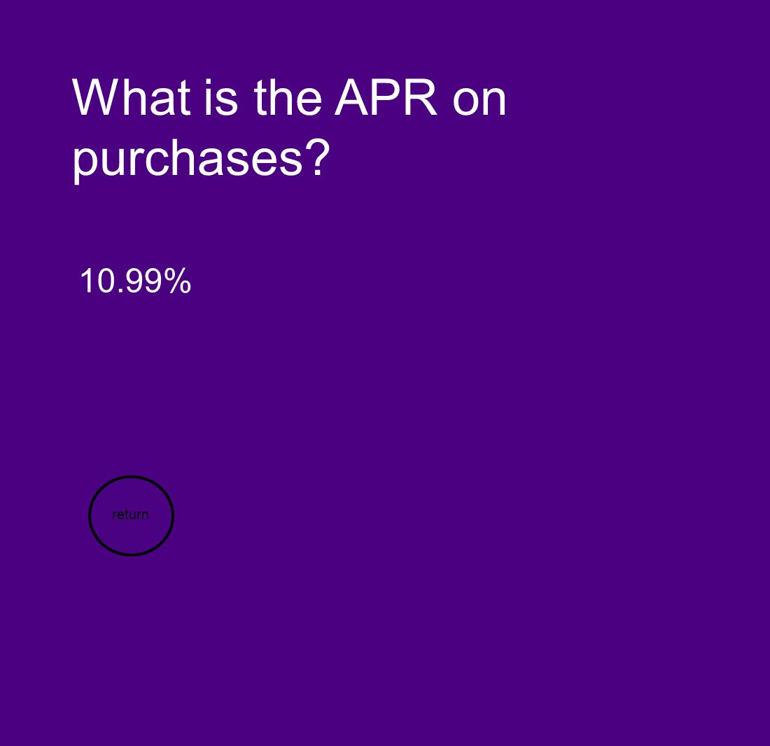What is the APR on purchases