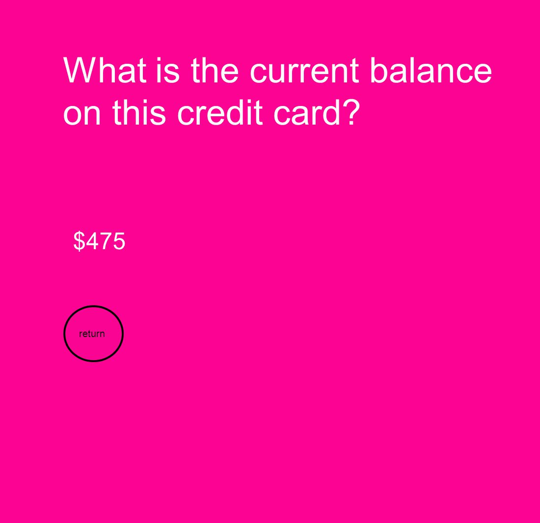What is the current balance on this credit card