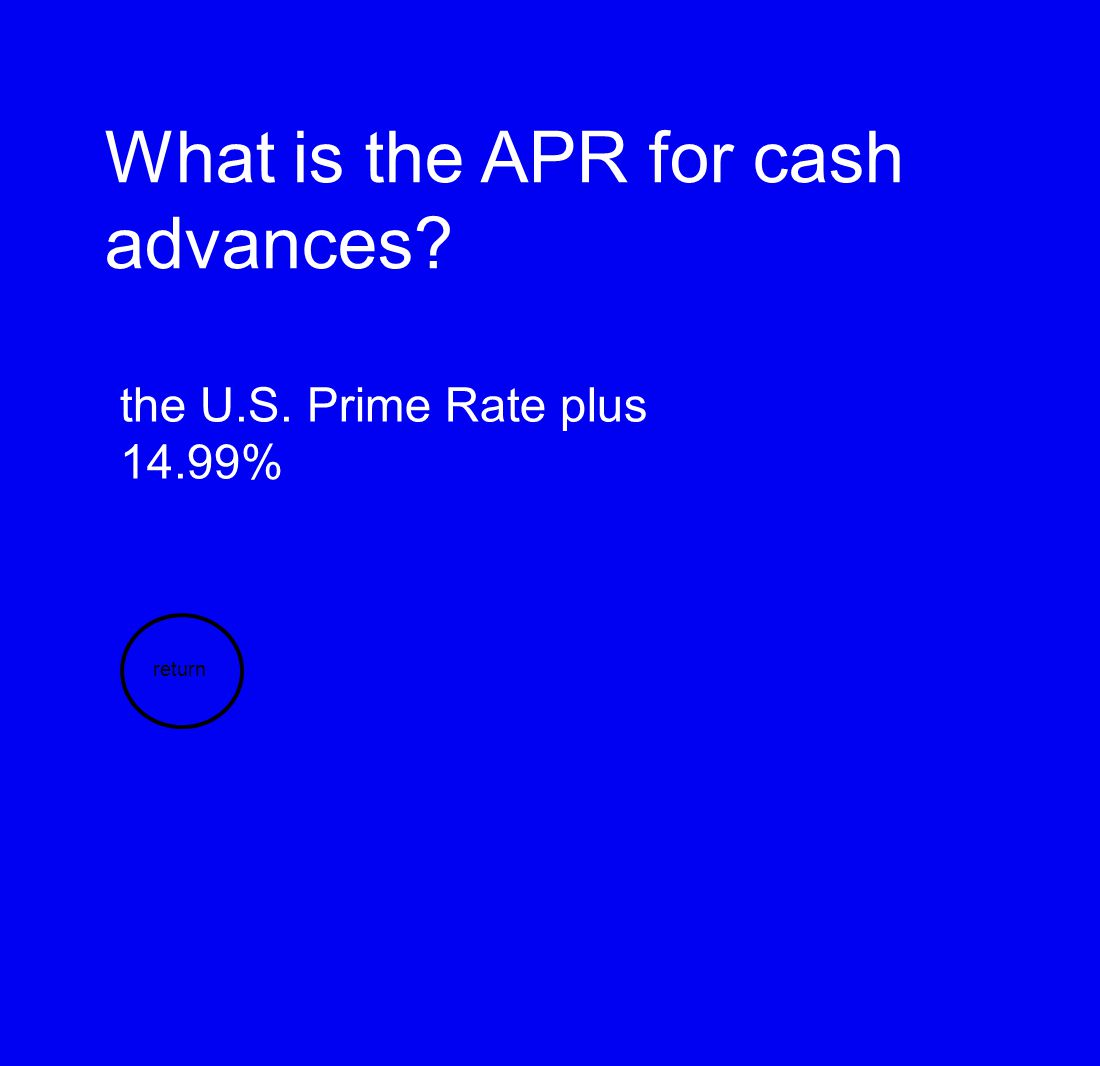 What is the APR for cash advances