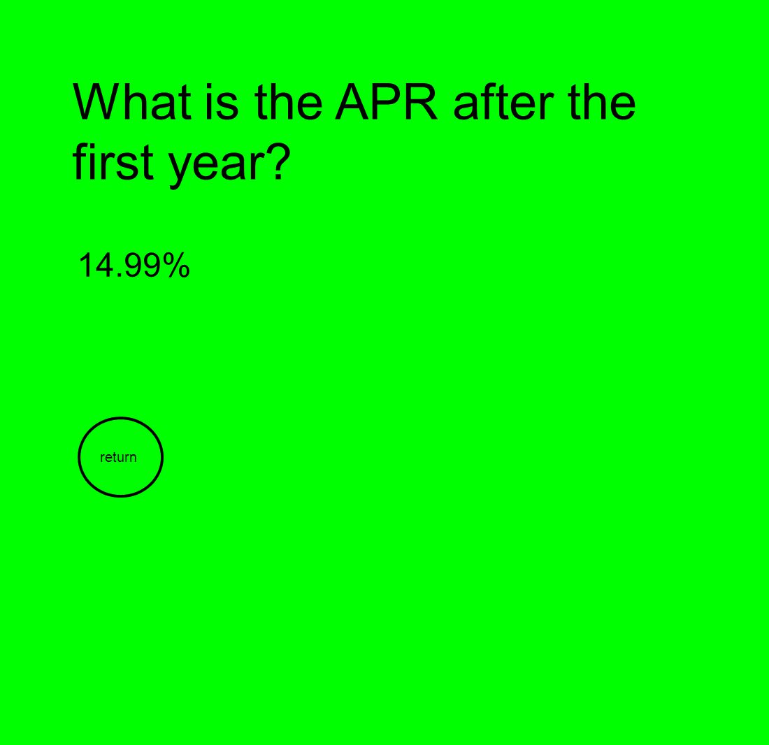 What is the APR after the first year